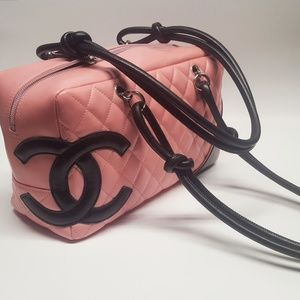 Chanel Cambon Ligne Pink Lambskin Shoulder Bag